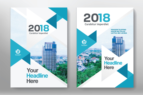 2018 Flyer And Cover Brochure Template Vector 07 Welovesolo