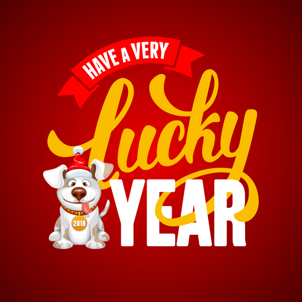year happy dog 2018