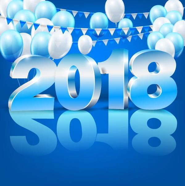 year new balloons 2018