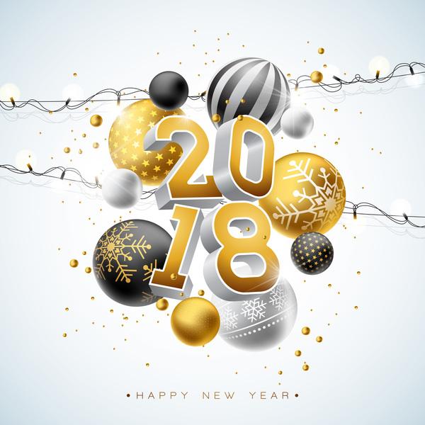 year new light decor bulb balls 2018
