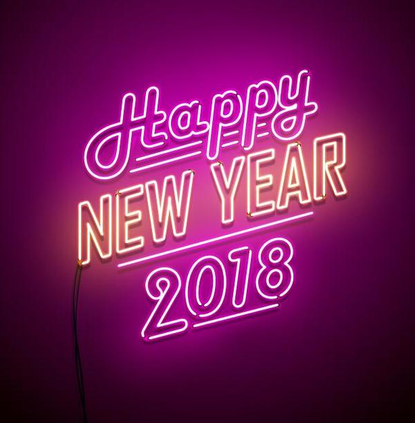 year new neon 2018