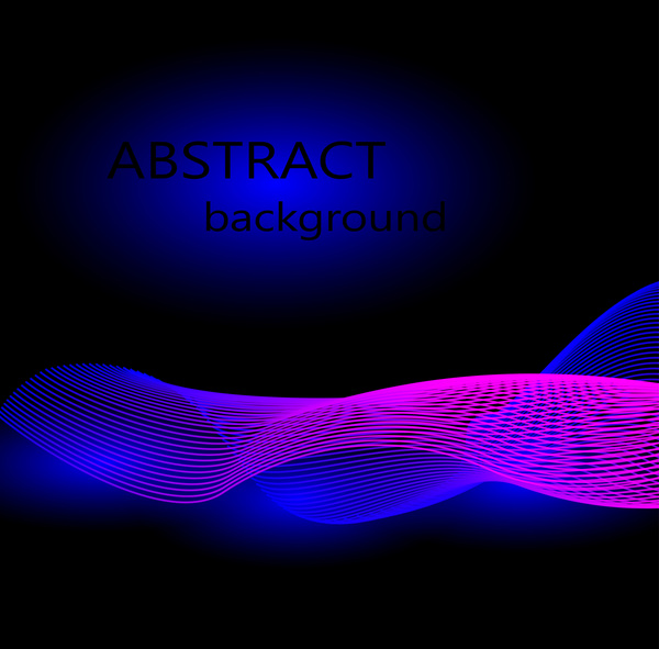 Abstract light wave effect vector background 01 - WeLoveSoLo