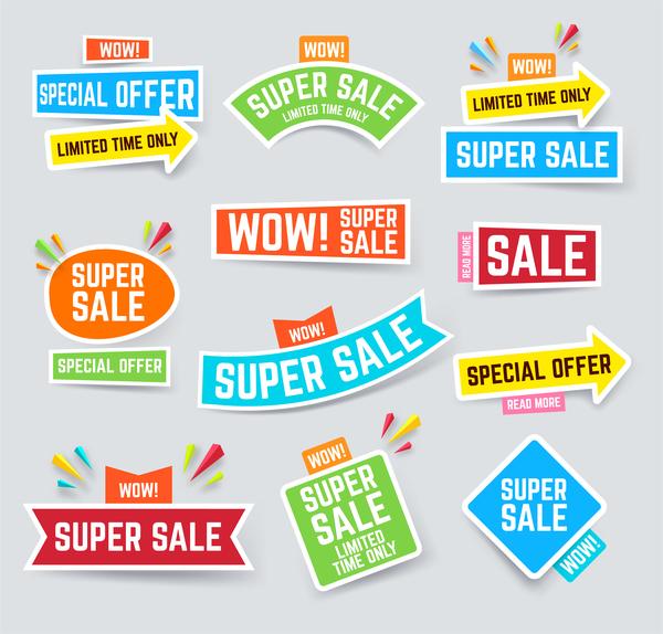 super sticker sale arrow