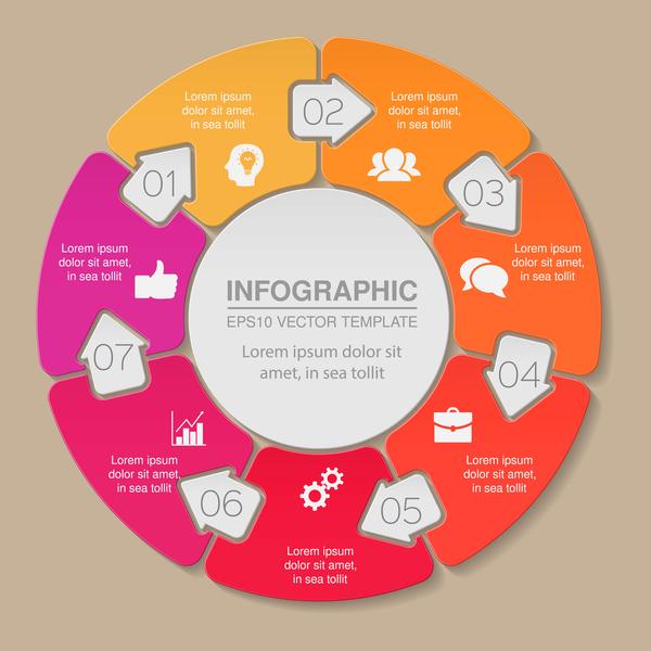 infographic circles arrow