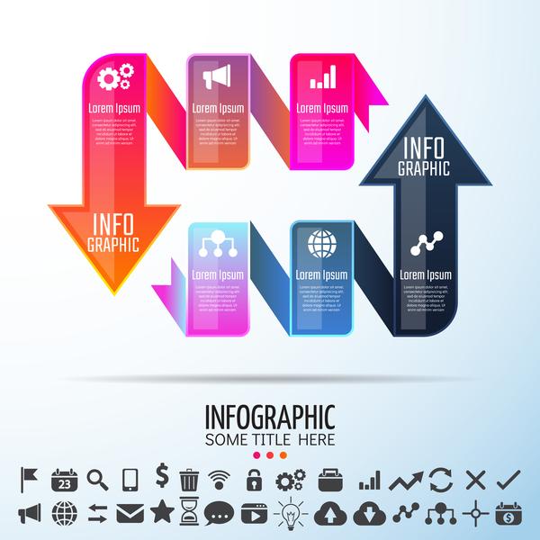 ribbon infographic arrow