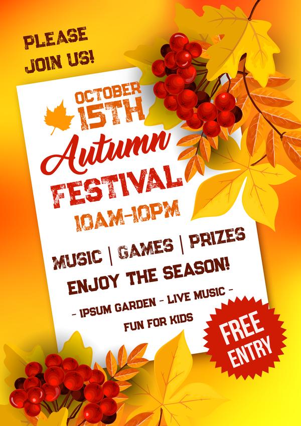 season page flyer autumn