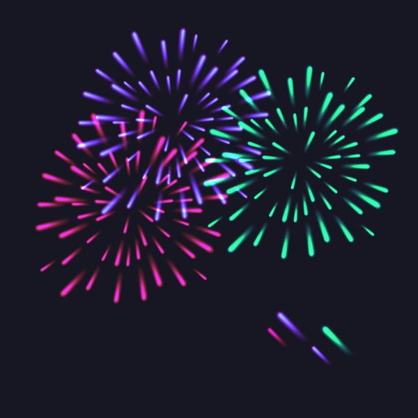 Fireworks festival effect beautiful