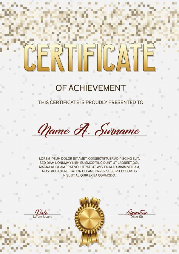 pixelated certificate beige