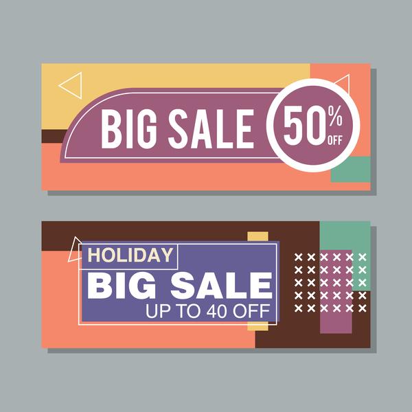big sale banner template vectors 05 welovesolo