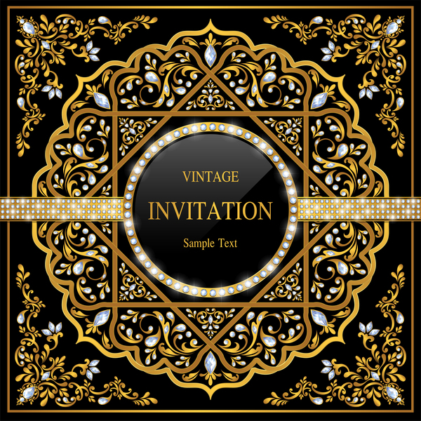 luxury invitation card black