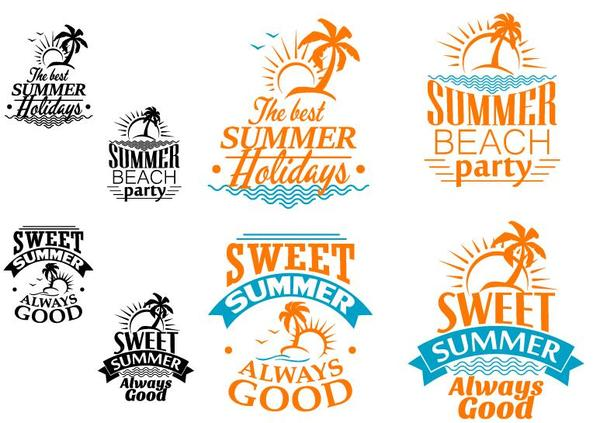 summer orange labels black