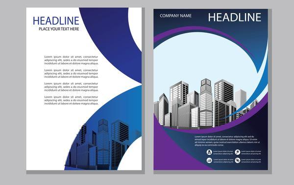 magazine brochure blue abstract