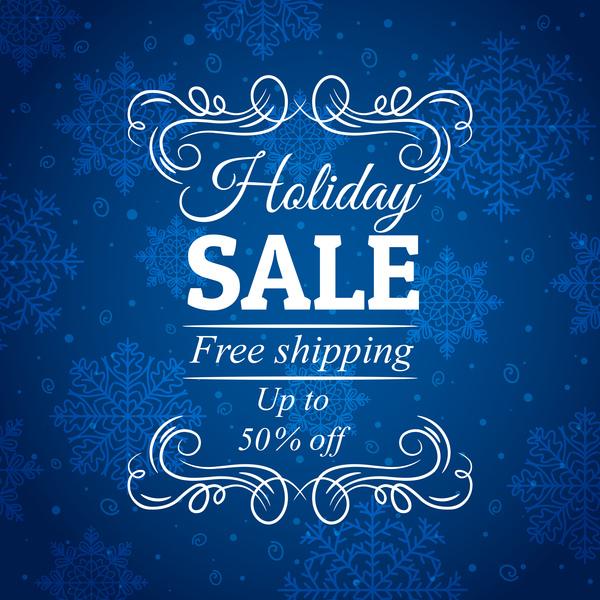sale discount christmas blue