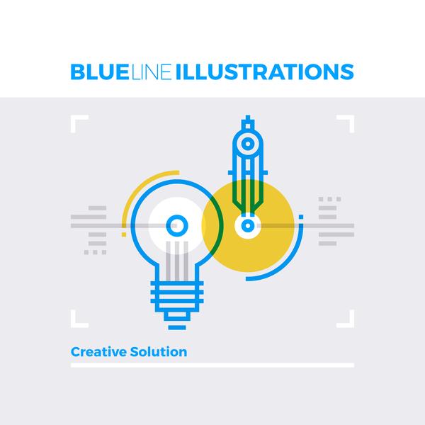 line business blue