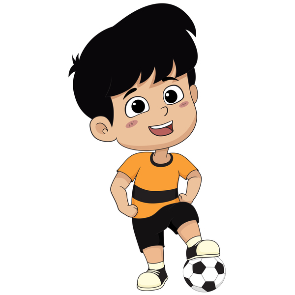 Cartoon kid with soccer vectors 09 - WeLoveSoLo