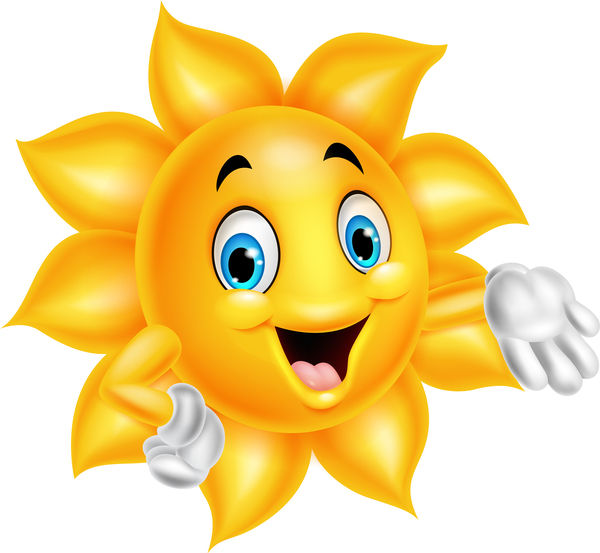 sun smiling face cartoon