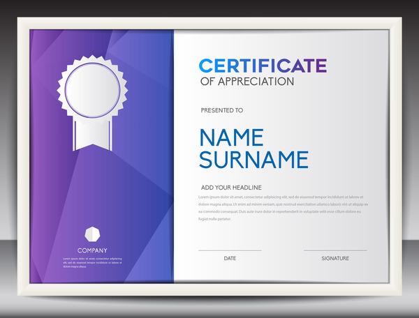 certificate for appreciation vector template 01 welovesolo