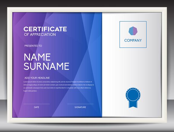 Certificate for appreciation vector template 02 welovesolo for certificate appreciation yadclub Gallery