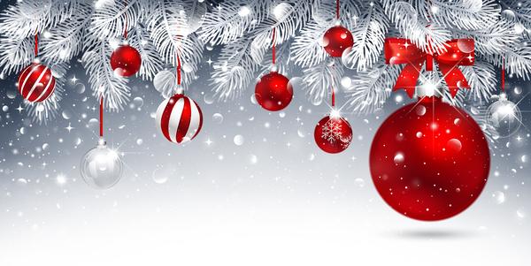 fir decor christmas balls