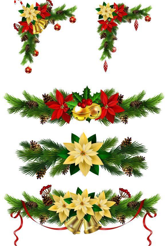 decorative corner christmas borders