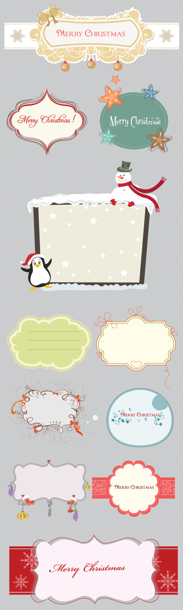 illustration frames christmas