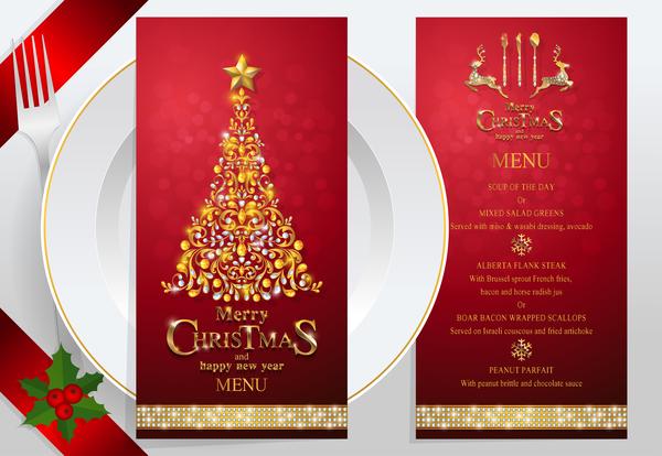 year red new menu christmas