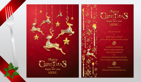 year red new menu christmas