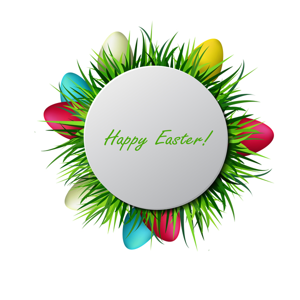 egg easter circles card