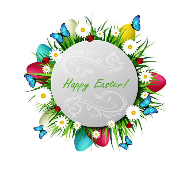 egg easter circles card