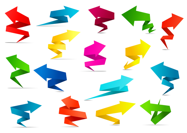 origami colored arrow
