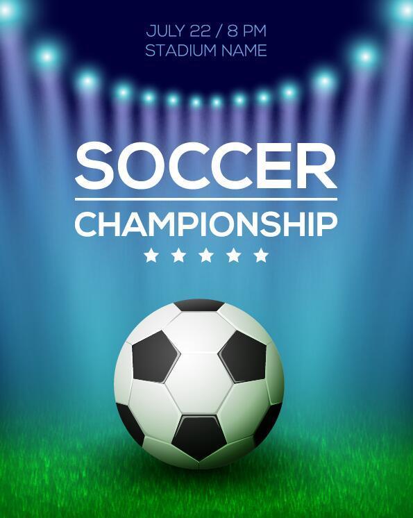 soccer poster creative