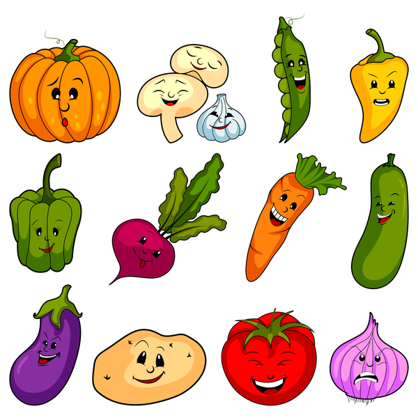 vegetable cute cartoon