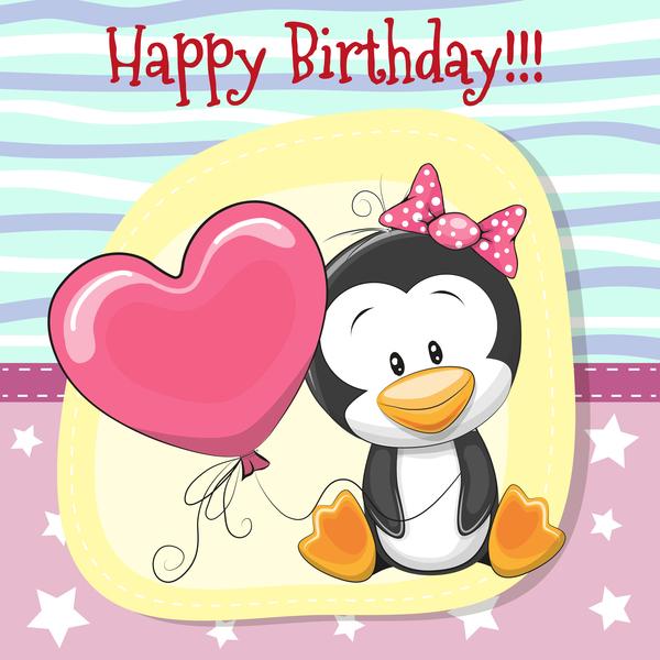Cute Happy Birthday Baby Card Vectors 06 Welovesolo