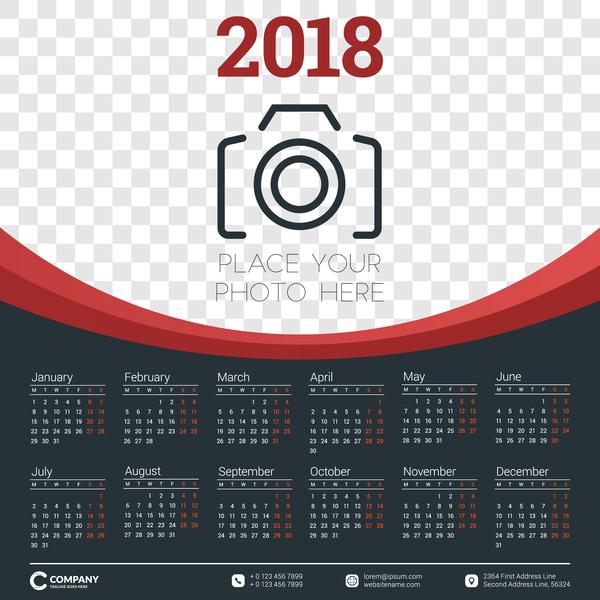 photo dark calendar 2018