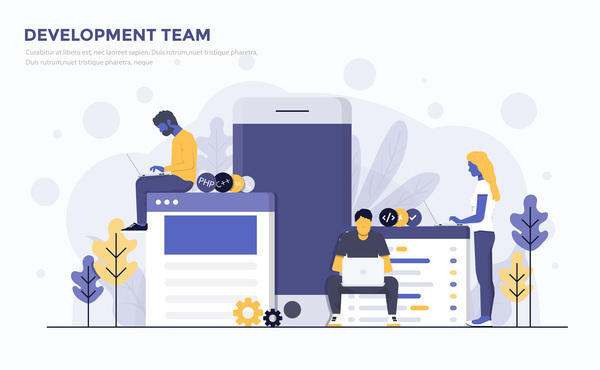 team flat development business