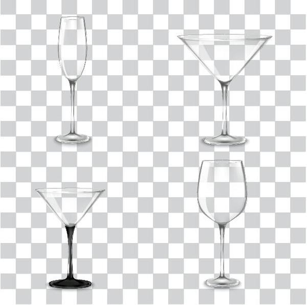 glass different cup