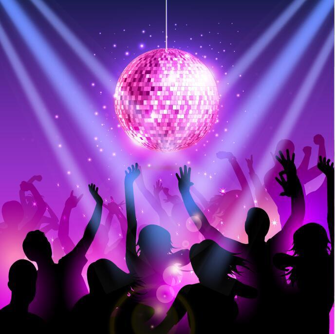 disco party background creative vector 01 welovesolo