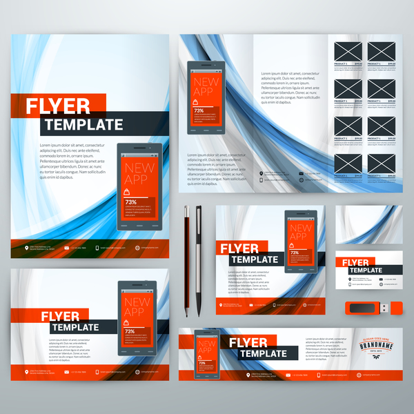 Electronic Product Flyer Template Vector 04 Welovesolo