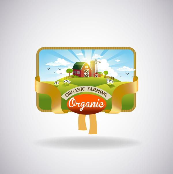 organic natural label fresh farm
