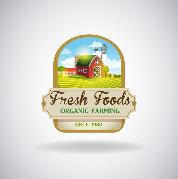 organic natural label fresh farm