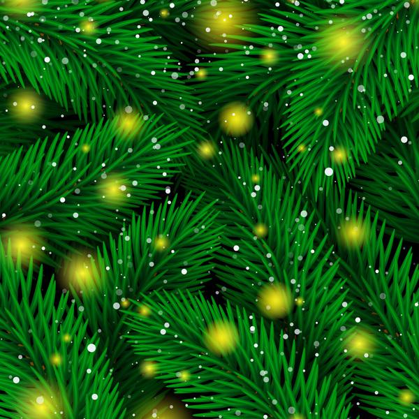 stars seamless pattern light fir branches