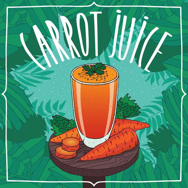 poster juice fresh carrot
