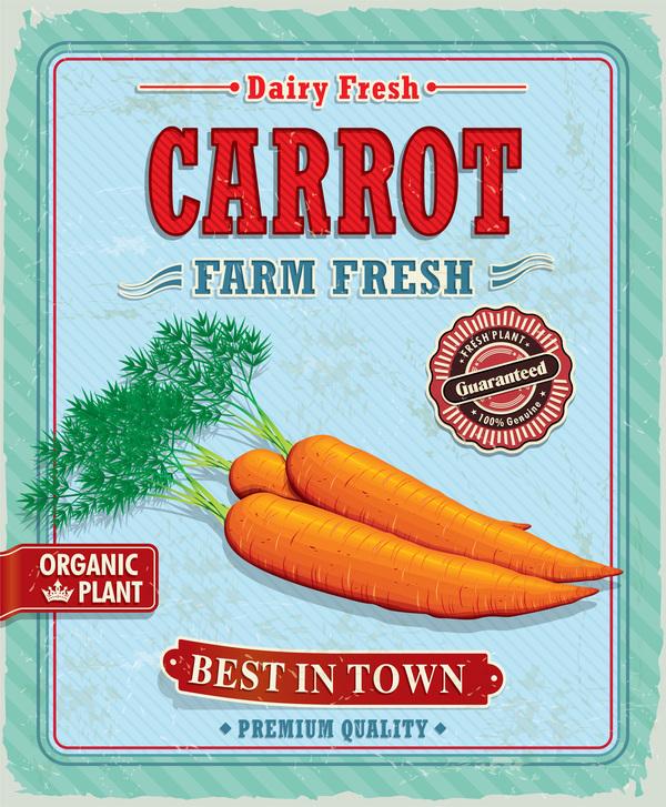 poster fresh carrot