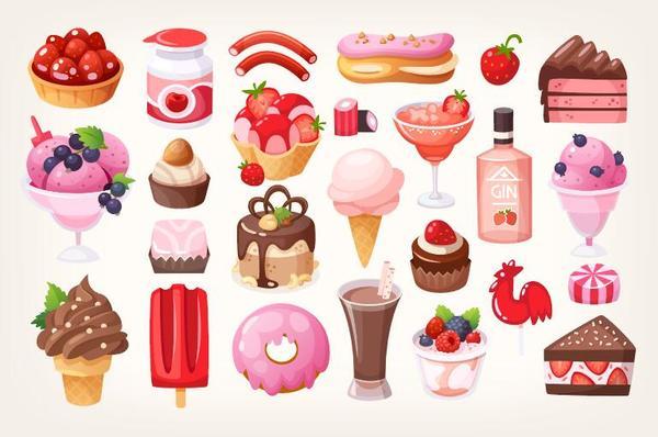 fruit desserts chocolate