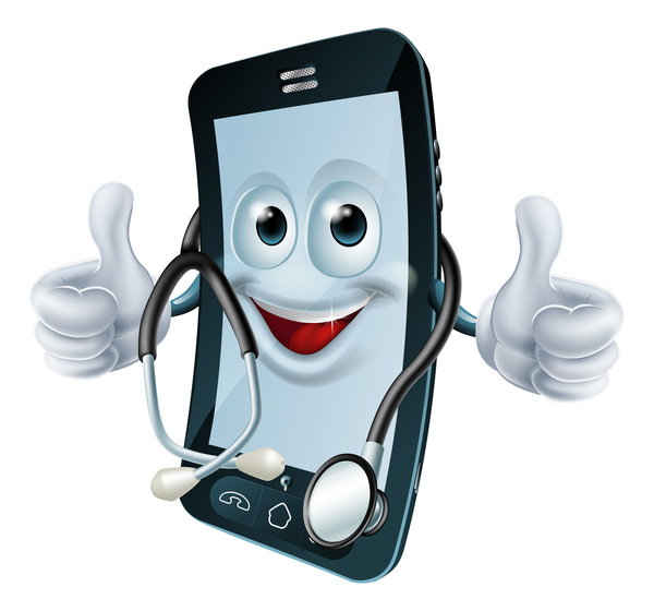 Funny Cartoon Mobile Phone Vector 06 Welovesolo