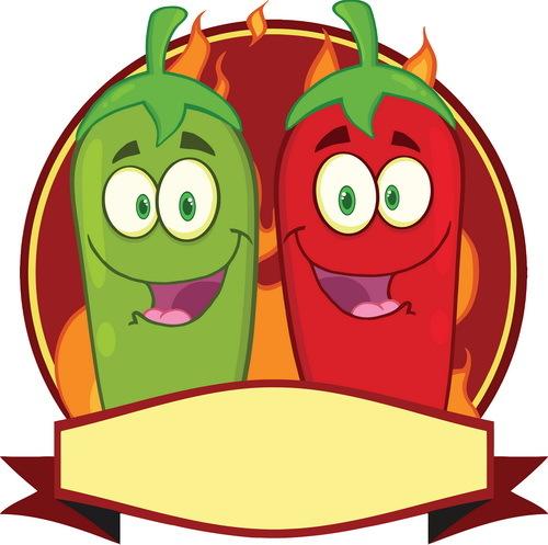 red pepper green funny cartoon