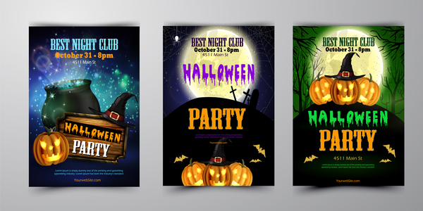 halloween flyer cover brochure