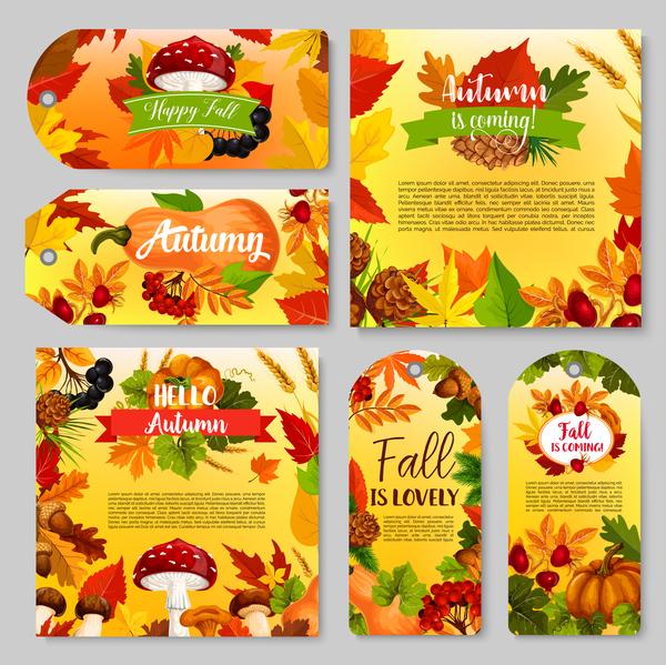 vertical hello banner autumn