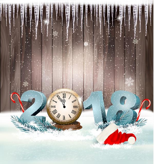 year holiday clock christmas 2018