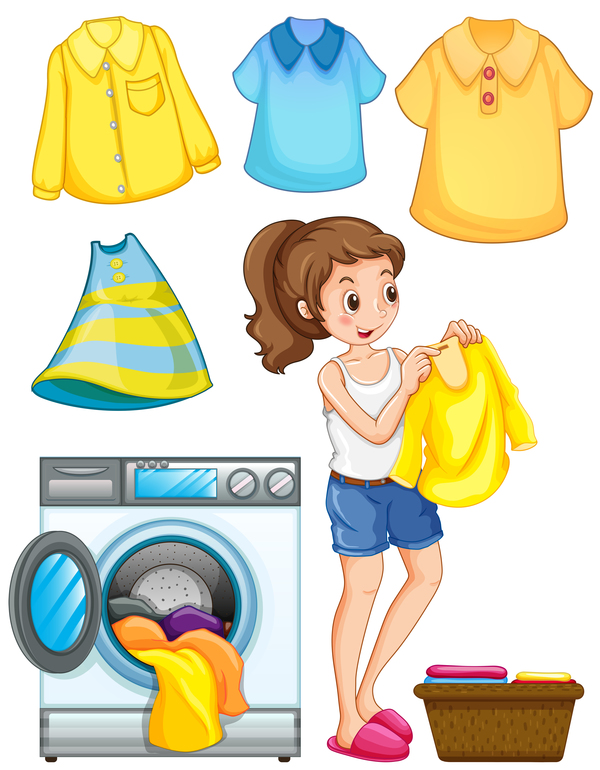 washing Housewife clothes